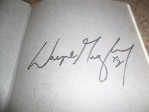 Gretzky signed book. First edition