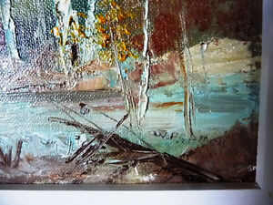 "Original Oil Landscape by W P Gamon ""Early Spring"" Stratford Kitchener Area image 5"