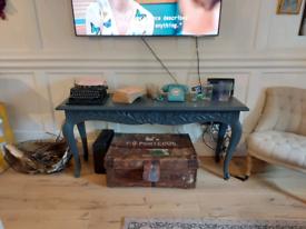 OKA Console Table Side Board - Solid Wood - Farrow & Ball Down Pipe