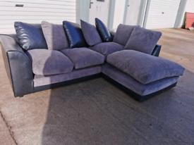 Black & grey corner sofa, couch, suite 🚚