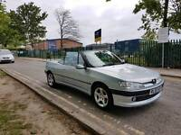 306 cabriolet for sale full leather blue roof