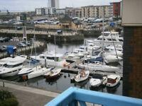 Swansea Marina Top Floor, 2 bedroom Flat - Furnished