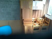 S4S clear cedar from disassembled furniture