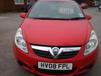 2008 VAUXHALL CORSA 1.0 2 PREVIOUS OWNERS