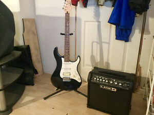 Yamaha Guitar, Line 6 Amp & stand TO TRADE FOR DECENT LAPTOP!