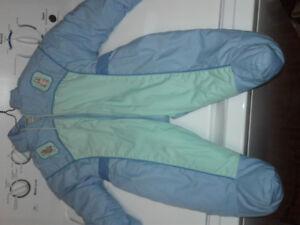 Blue Peter rabbit snow suit