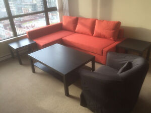 Fully Furnished All Inclusive Pet Friendly Yaletown Condo for Re