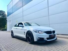 2013 63 BMW 428 i 2.0 ( 245bhp ) Auto M Sport Coupe + WHITE + M PERFORMANCE KIT