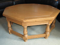 Pine Octagonal Coffee Table