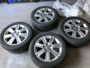 AUDI mag oem original 17 pouce sur pneus hiver 225/50/17