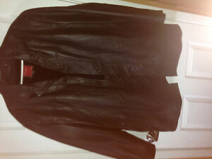 Gianna Lorenzi Lamb Skin Leather Jacket ITALY Dark Brown