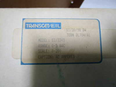 Transcateil 0-200amps Meter Si3343 New In Box