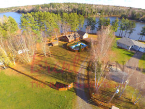 WATERFRONT 24 Wry's Lane. Charming, open concept log home