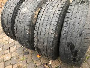 LT 245/75/16 used tires on rims