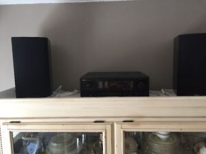 Home theatre/stereo receiver & speakers