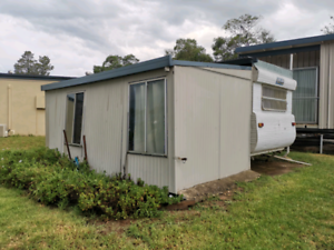 caravan and shed for sale