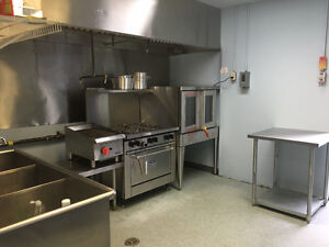 Commercial kitchen space available for rent hourly. $25/hour