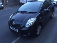 Toyota Yaris 1.3 litre petrol black hatchback 5 door