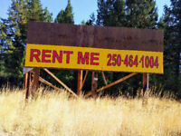 Billboard sign space rental