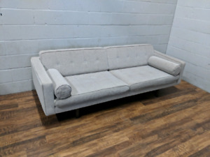 (Free Delivery) - Light grey sofa from Design Republic