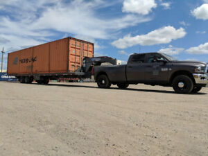 Shipping Container Transport / Heavy flatbed transport service