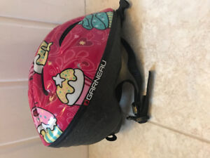 Little girl's bike helmet