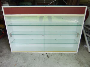 large commercial  glass display cabinet in great cond