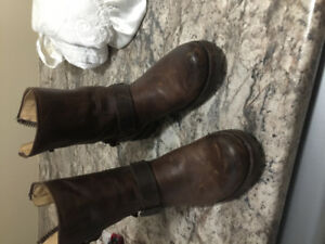 Woman fry boots