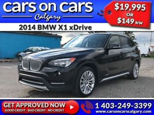 2014 BMW X1 xDrive w/Leather, PanoRoof, BlueTooth $149B/W INSTAN