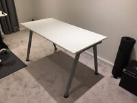 Quality IKEA Thyge table in white - as new / week old