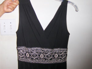BLACK DRESS, PERFECT, NEW CONDITION - WORN ONCE ONLY -