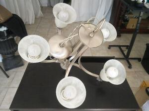 5 Bulb Silver Kitchen Light Fixture