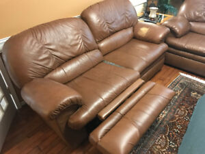 2 lazyboy leather couches, recliners
