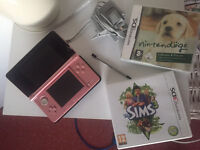 Unused pink 3DS and eight games !!!