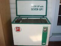 Rare Vintage 1960's 7up cooler in working condition very nice!