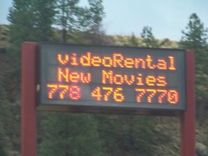 Double Face Electronic Sign