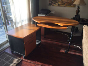 modern, great condition, ergonomic  computer desk.
