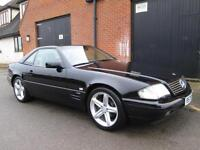 MERCEDES-BENZ SL320 CONVERTIBLE BLACK AUTOMATIC FULL HISTORY LOW MILES