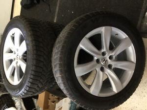Mags 18 avec pneus hiver Dunlop Grandtrek run flat 255/55/18