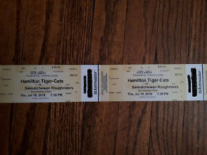 Ti-Cat Game Day Tickets (4 in Total)
