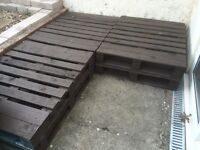 Selection of wooden pallets