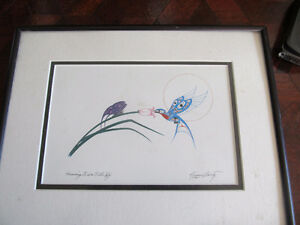 hummingbird + butterfly print  richard shorty