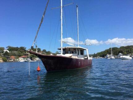 1 bedroom yacht for rent in port hacking 12 meters/40 feet long