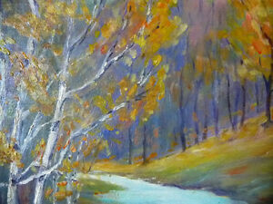 "Colorful Original Oil Study ""After the Storm"" by M. Rowntree Stratford Kitchener Area image 4"