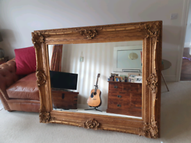 Large , antique style , gold mirror