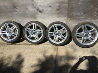 "AMG Mercedes OEM wheels with tires 18"" Kitchener / Waterloo Kitchener Area Preview"