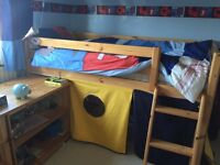 Cabin Bed with storage and desk