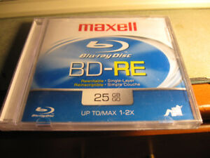 Maxell Blu-ray Rewritable Single Layer disc-new/sealed-$5 + more