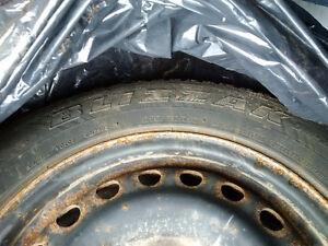 Blizzak Winter Tires with Steel Rims Kitchener / Waterloo Kitchener Area image 1