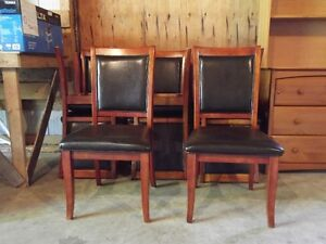 Dining room wood/vinyl chairs